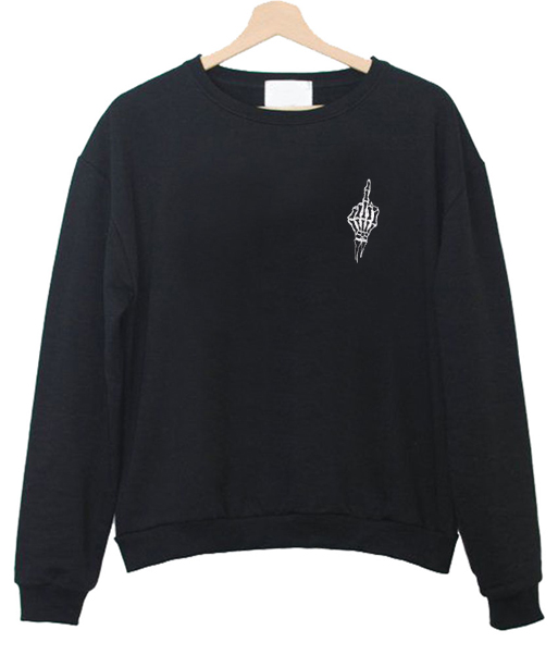 fuck skeleton sweatshirt