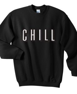 Chill White Sweatshirt