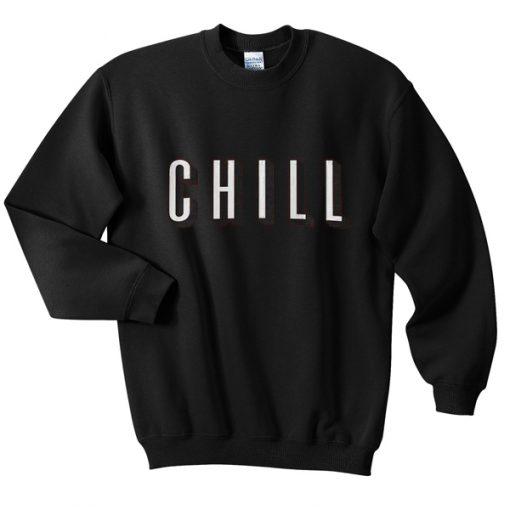 Chill White Sweatshirt
