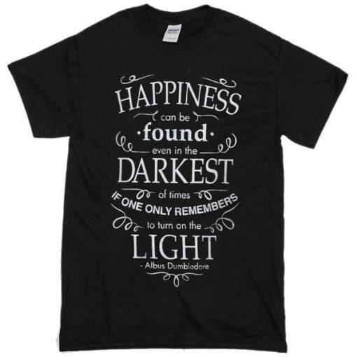 Harry Potter Happiness Darkest Light T-shirt