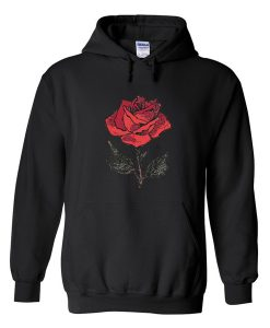 Red Rose Flower Hoodie
