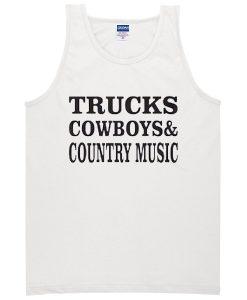Trucks Cowboys Country Music Tanktop