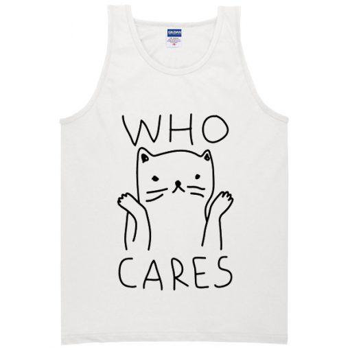 Who Cares Cat Tanktop