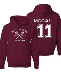 Beacon Hills Lacrosse McCall 11 Maroon Hoodie
