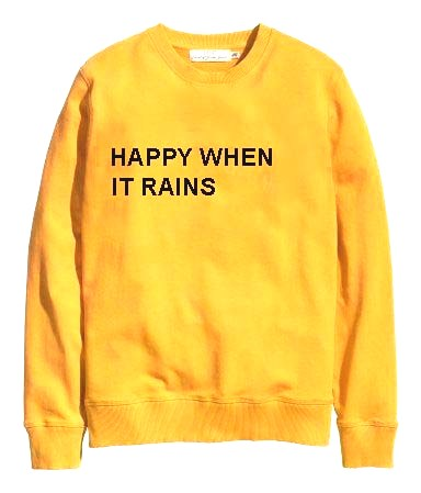 Happy When It Rain Yellow Sweatshirt