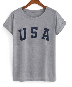 USA Letter Slogan T-Shirt