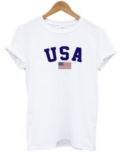 USA White T-Shirt