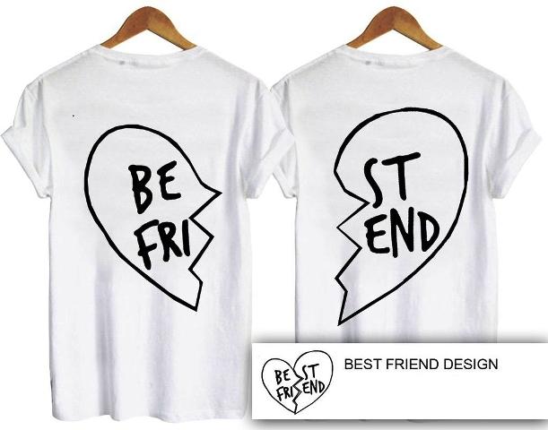 f0c991bb6f Best Friend Couple Back T-Shirt