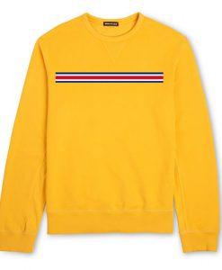 Yellow Strip Colors Sweatshirt