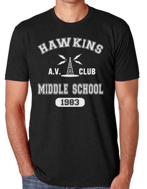 Hawkins Middle School AV Club Stranger Things T-Shirt