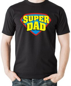 Super Dad Superhero Style T-Shirt