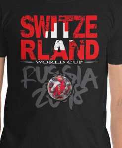 World Cup Football 2018 Russia Switzerland T-Shirt