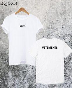 Staff Vetements T-Shirt