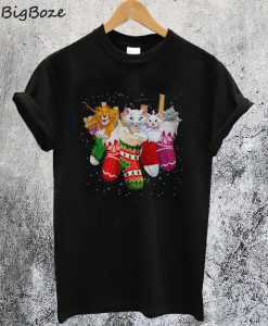 The Aristocats in Socks Christmas T-Shirt