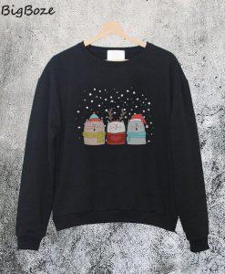 Three Cats Sing Christmas Sweatshirt