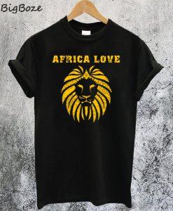 Africa Love Golden Lion T-Shirt