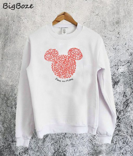 Damski Mickey Mouse Hearts Sweatshirt