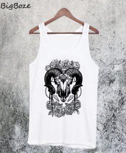 Flowery Ram Skull Tanktop
