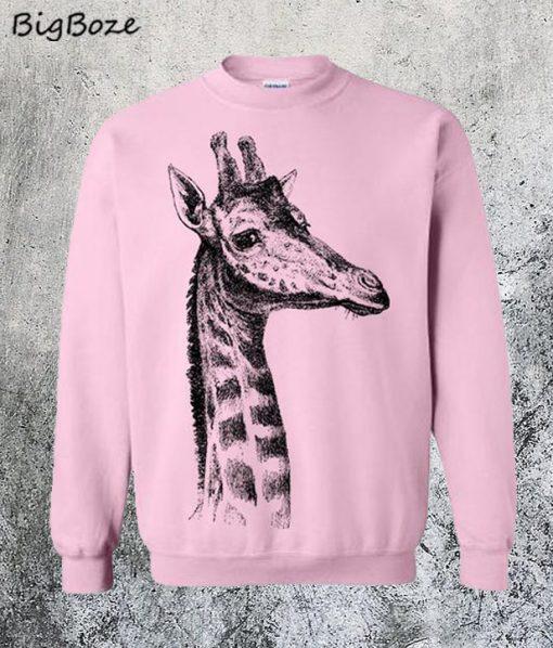 Giraffe Fleece Sweatshirt
