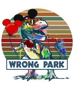 Wrong Park Dinosaur T-Rex T-Shirt