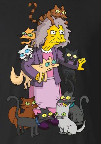 картинка кошатницы из симпсонов фото это