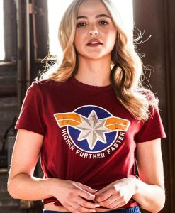 Captain Marvel Higher Further Faster T-Shirt
