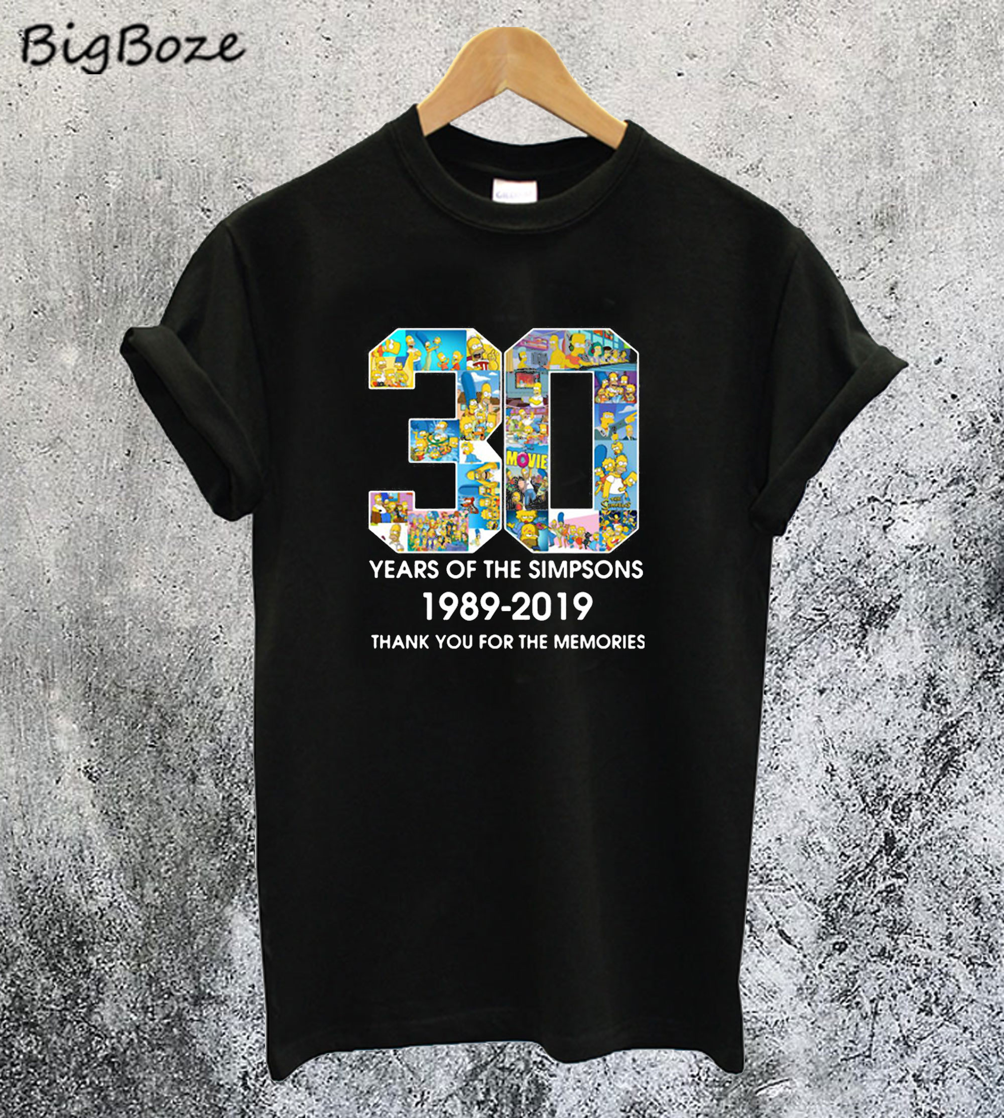 30 Years of The Simpsons 1989 - 2019 T-Shirt