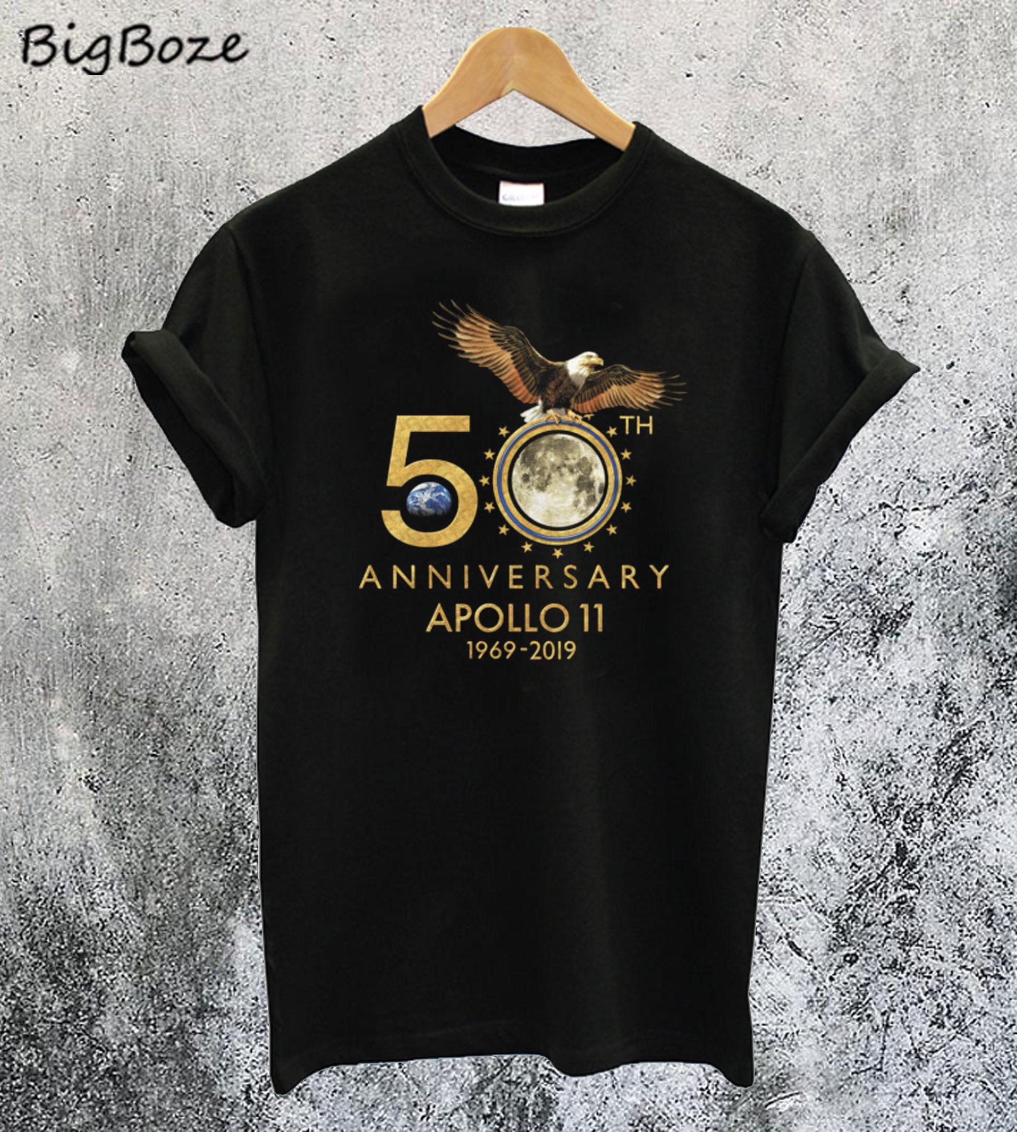 50th Anniversary Apollo 11 Moon Landing 1969-2019 T-Shirt