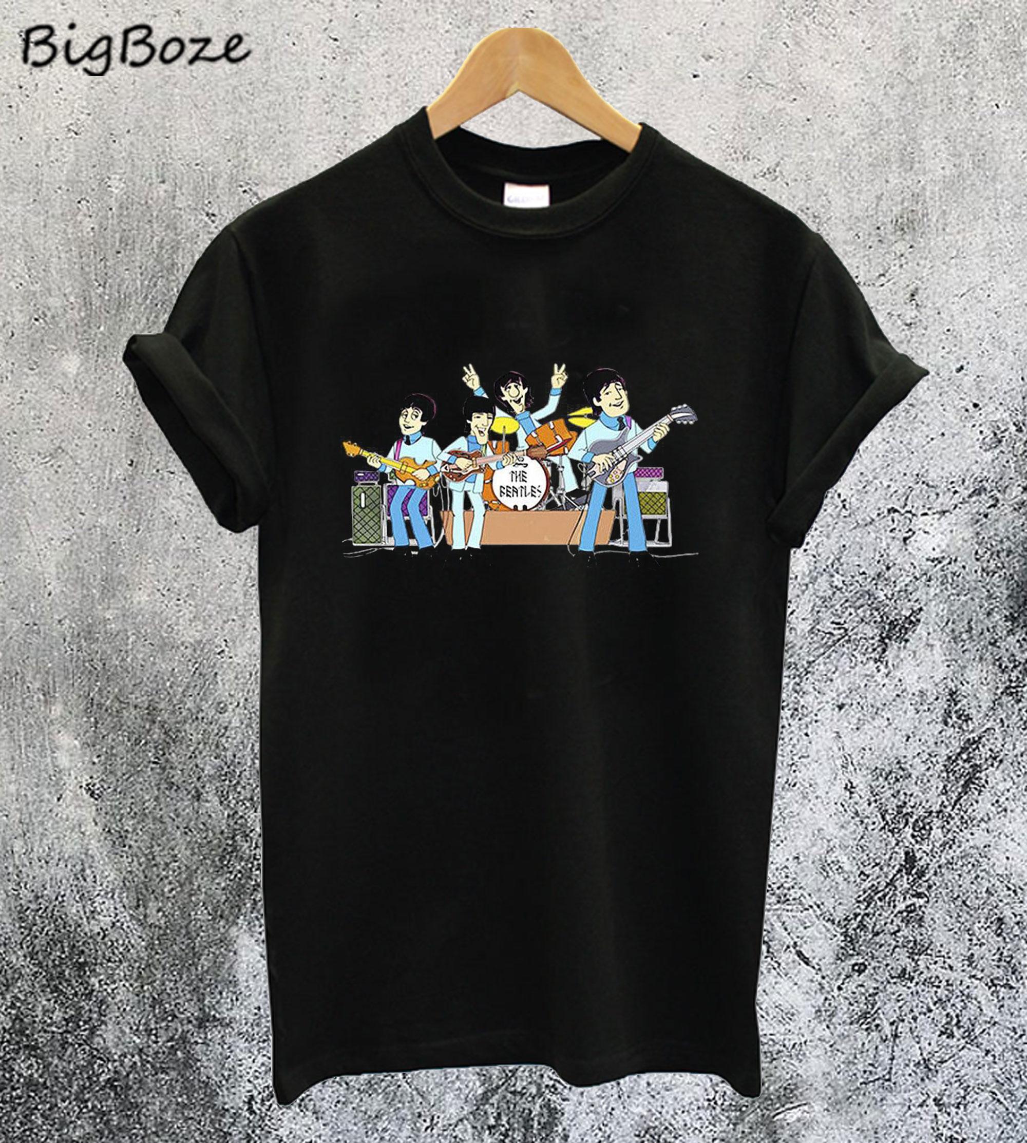 The Beatles Cartoon T-Shirt