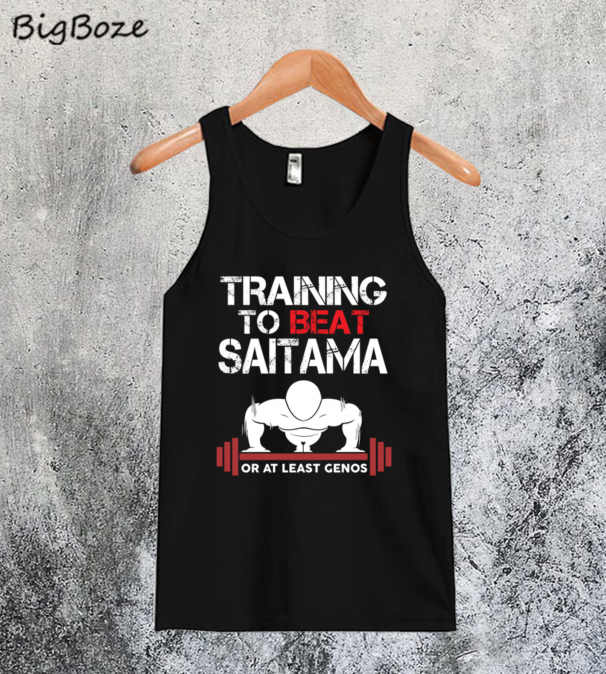 Training To Beat Saitama Or At Least Genos Tanktop