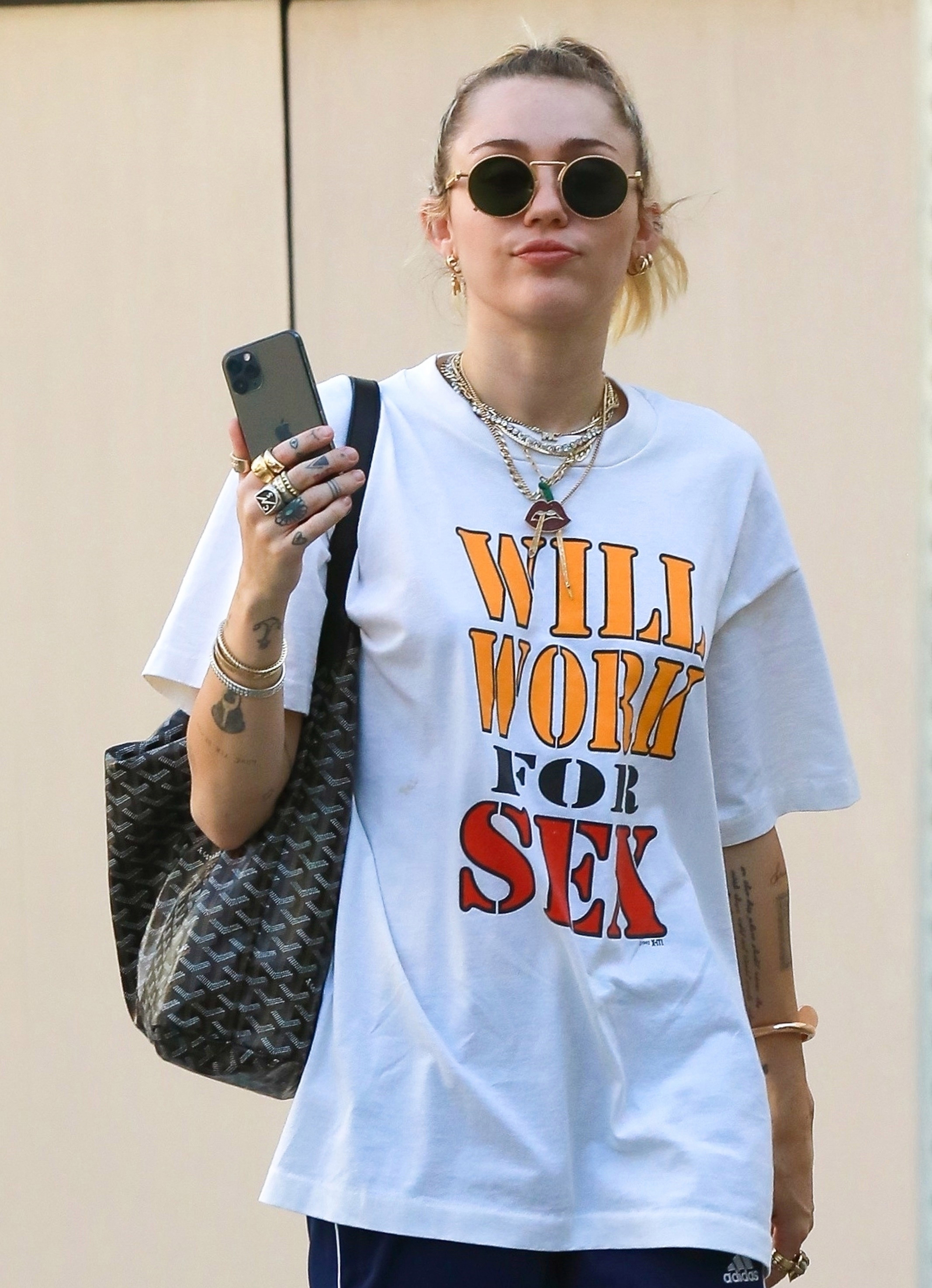 Will Work For Sex Miley Cyrus New T-Shirt