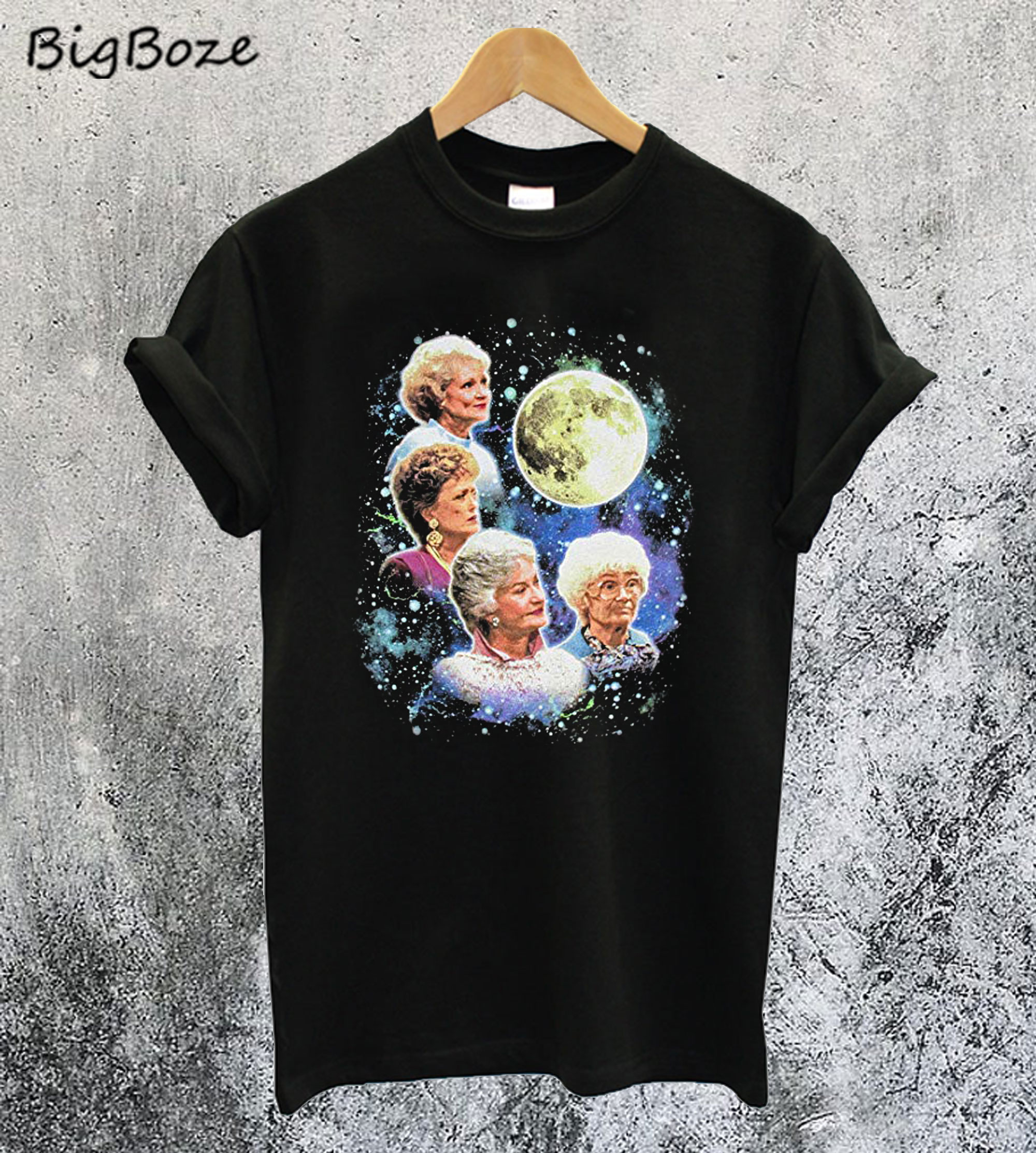 Bioworld The Golden Girls Women's Four Golden Girls Moon T-Shirt