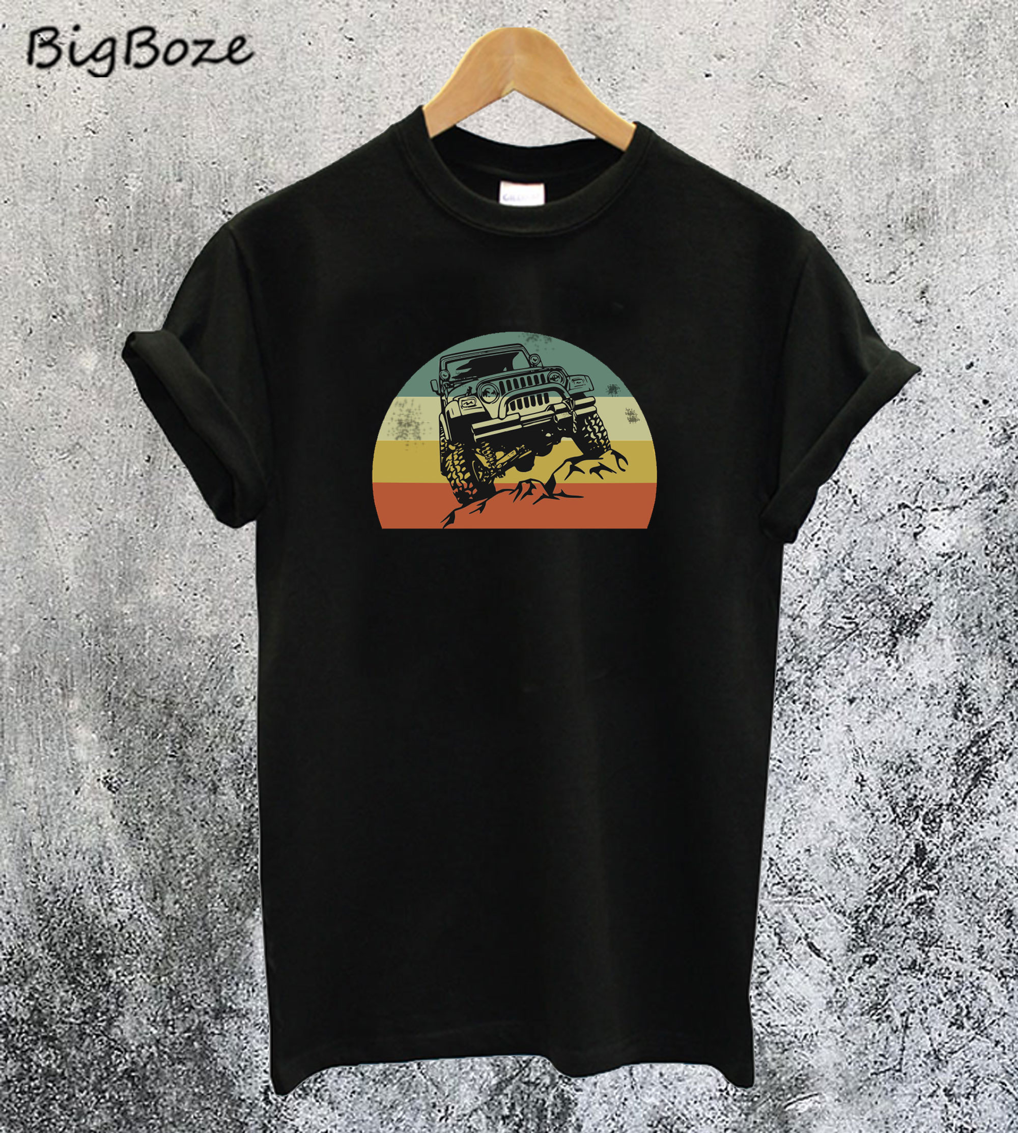 Jeeps Retro 70s Sunset T-Shirt