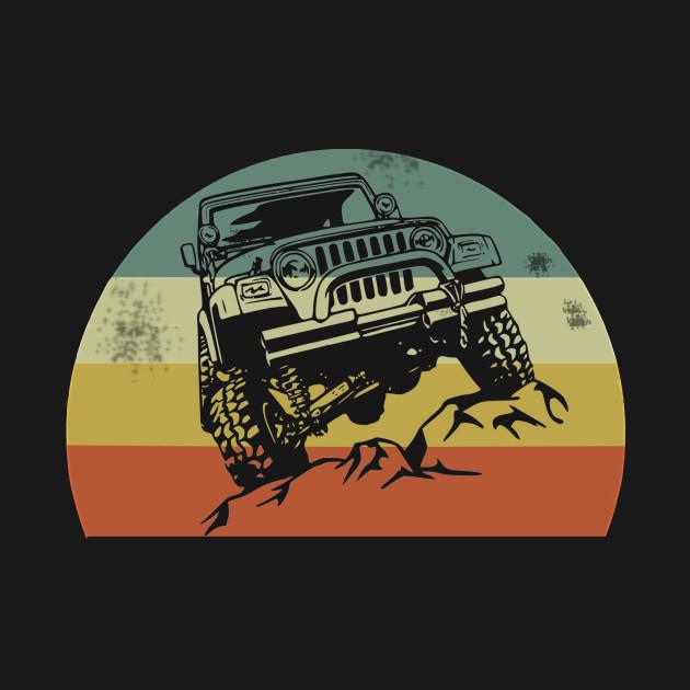 Jeeps Retro 70s Sunset T-Shirt
